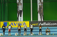 Photo: Ady Kerry/Richard Lane Photography.. Aviva European Trials and UK Championships, 14/02/2009..Mens 60m start .