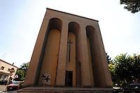 La Chiesa di Santa Barbara, del  1936, venne costruita su disegno dell'ing. Moranti..In the 1936,the Church of Santa Barbara was built to a design of  engineer Morante.