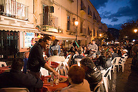 Lipari, Eolian Islands, Italy, June 2006. Lipari town is attractive and the bars and restaurants are inviting. The Volcanic Eolian Islands of Southern Italy offer a spectacular landscape for trekking while staying in picturesque towns. Photo by Frits Meyst/Adventure4ever.com