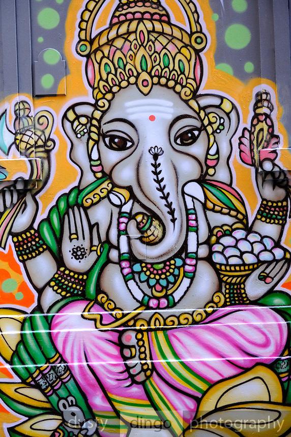 Ever-changing graffiti in Hosier Lane, Melbourne, Australia