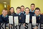 Michael Murphy, Eleanor O'Leary, Patrick O'Callaghan, Kevin Dunlea, Paul Fleming, Daniel O'Connor and Darragh Murphy, Rathmore Social Action group, who will be taking part in a fast for the sheltered housing for the elderly and also for the third world...   Copyright Kerry's Eye 2008