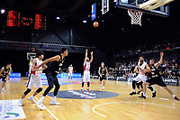 Syria's Sharif Al Osh shoots during the FIBA World Cup Asia qualifier between the New Zealand Tall Blacks and Syria at TSB Bank Arena in Wellington, New Zealand on Sunday, 2 December 2018. Photo: Dave Lintott / lintottphoto.co.nz