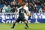 Real Madrid's Raphael Varane (r) and Real Sociedad's William Jose during La Liga match. January 29,2017. (ALTERPHOTOS/Acero)