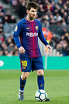 Lionel Andres Messi of FC Barcelona in action during the La Liga 2017-18 match between FC Barcelona and Getafe FC at Camp Nou on 11 February 2018 in Barcelona, Spain. Photo by Vicens Gimenez / Power Sport Images