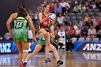 Tactix' Brooke Leaver in action during the ANZ Premiership - Pulse v Tactix  at Fly Palmy Arena, Palmerston North, New Zealand on Sunday 10 March 2019. <br /> Photo by Masanori Udagawa. <br /> www.photowellington.photoshelter.com