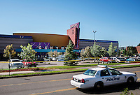 The Century 16 movie theater where James Holmes (cq), 24, is in custody and is suspected of killing 12 people and wounding many more in Aurora, Colorado, Saturday, July 21, 2012. The shootings occurred during the midnight premiere of the new Dark Knight Batman movie...Photo by MATT NAGER