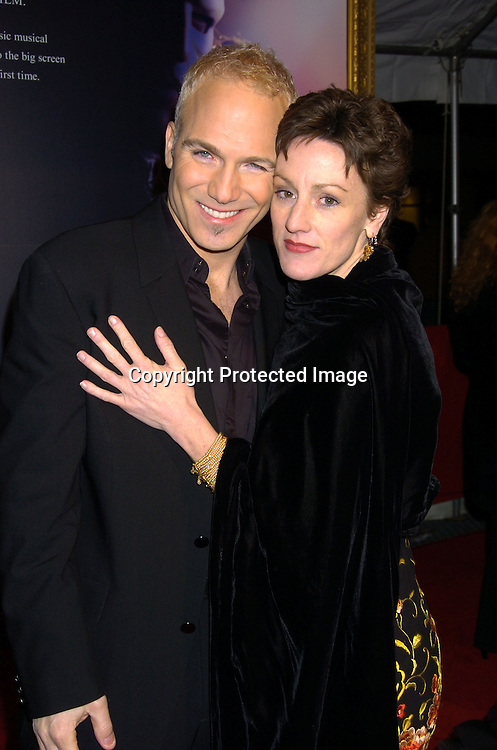 "Frank D'Ambrosio and Lisa Vroman ..at The New York Premiere of ""Phantom of the Opera"" on ..December 12, 2004 at the Ziegfeld Theatre. ..Photo by Robin Platzer, Twin Images"