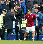 Pedro Caixinha and Jamie Walker at full time