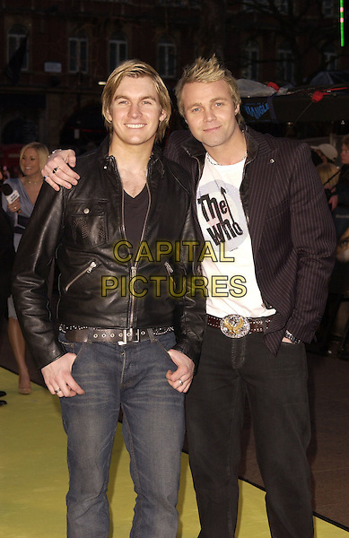 "JOURNEY SOUTH - ANDY PEMBERTON & CARL PEMBERTON.Arrivals at the World Premiere of ""Alien Autopsy"", .Odeon Leicester Square, London, .England, April 3rd 2006..half length brothers black leather jacket.Ref: CAN.www.capitalpictures.com.sales@capitalpictures.com.©Can Nguyen/Capital Pictures"