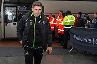 Declan John of Swansea City arrives for the Sky Bet Championship match between Swansea City and Millwall at the Liberty Stadium in Swansea, Wales, UK. Saturday 23rd November 2019