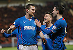 Nicky Clark claims the goal from Jon Daly