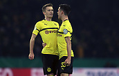 February 5th 2019, Dortmund, Germany, German DFB Cup round of 16, Borussia Dortmund versus SV Werderon about his goal to Bremen;  Celebration for the goal for 1-1 by free kick from Marco Reus