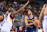 Spain's basketball player Ricky Rubio during the  match of the preparation for the Rio Olympic Game at Madrid Arena. July 23, 2016. (ALTERPHOTOS/BorjaB.Hojas) /NORTEPHOTO.COM