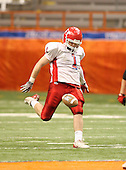 Hornell Red Raiders varsity football against the Nanuet Golden Knights during the NYSPHSAA Class-B State Championship game at the Carrier Dome on November 29, 200 in Syracuse, New York.  Hornell defeated Nanuet 16-14.  (Copyright Mike Janes Photography)