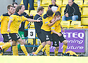 KEAGHAN JACOBS (8) CELEBRATES AFTER HE SCORES LIVINGSTON'S FOURTH