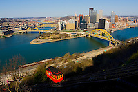 Pittsburgh Skyline - Confluence of Rivers and The Duquesne Incline