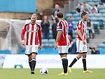 Sheffield United's Matt Done looks on dejected after going 1-0 down during the League One match at the Priestfield Stadium, Gillingham. Picture date: September 4th, 2016. Pic David Klein/Sportimage