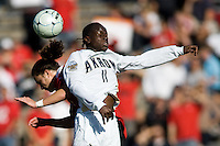 Akron's Darren Mattocks (11) battles Louisville's Brock Granger (17). 2010 NCAA D1 College Cup Championship Final Akron defeated Louisville 1-0 at Harder Stadium on the campus of UCSB in Santa Barbara, California on Sunday December 12, 2010.