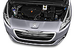 High angle engine detail of a 2014 Peugeot 5008 Allure 5 Door Mini Mpv 2WD.