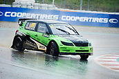 14th April 2018, Circuit de Barcelona-Catalunya, Barcelona, Spain; FIA World Rallycross Championship; Ales Fucik of the KRTZ Mot ACCR Czech Team in action during the very wet Q2