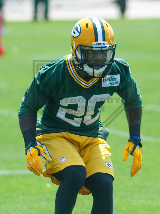GREEN BAY - May 2015: Green Bay Packers safety Jean Fanor (20) during an organized team activity on May 28th, 2015 at Clarke Hinkle Field in Green Bay, Wisconsin.  (Brad Krause/Krause Sports Photography)