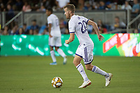 SAN JOSE,  - SEPTEMBER 1: Oriol Rosell #20 of the Orlando City SC during a game between Orlando City SC and San Jose Earthquakes at Avaya Stadium on September 1, 2019 in San Jose, .