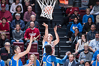 STANFORD, CA -- February 7, 2019. The Stanford Cardinal women's basketball team falls to the UCLA Bruins 79-69 at Maples Pavilion.