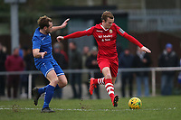 Ronnie Winn of Hornchurch and James Goode of Aveley during Hornchurch vs Aveley, Buildbase FA Trophy Football at Hornchurch Stadium on 11th January 2020