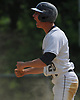 Jake Lazzaro #20 of Oceanside reacts after connecting for a double in the botton of the first inning of Game 1 of the best-of-three Nassau County varsity baseball Class AA final against Massapequa at SUNY Old Westbury on Saturday, May 26, 2018.