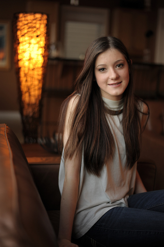 Sage Wosminity, a 15-year-old clothing designer from Regina, takes a break from working on a six-piece collection she'll be showing at Saskatchewan Fashion Week. Wosminity, a Grade 10 student, learned to sew from her grandmother and has been designing clothes since she was five years old. MARK TAYLOR FOR NATIONAL POST.