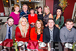 Staff of Specsavers, Tralee enjoying their Christmas party on Saturday night at Darcy's Bistro Front l-r  Derek Holden, Cathy O'Connor, Tara O'Sullivan, Emmet O'Connor and Maurice Feeley. Back l-r  Gillian Keegan, Brian Foley, Noreen O'Leary, Catriona Mulvihill, Bridget Slattery and Sophie Ashford