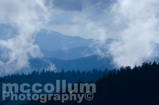 Michael McCollum<br /> 8/1/17<br /> Clearing Storm Blue Blue Ridge Mountains looking South from Clingmans Dome (6,643 feet) in the Great Smoky Mountains National Park in North Carolina