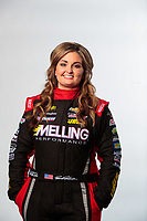 Feb 6, 2019; Pomona, CA, USA; NHRA pro stock driver Erica Enders poses for a portrait during NHRA Media Day at the NHRA Museum. Mandatory Credit: Mark J. Rebilas-USA TODAY Sports