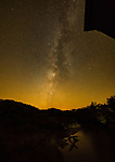 Milky Way over the Roseman Covered Bridge