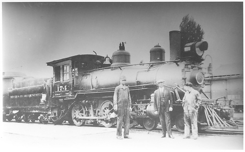 Engine #174 with engine crew.<br /> D&amp;RGW