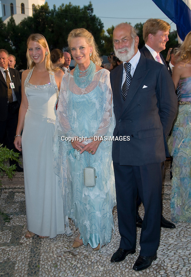 "PRINCE NIKOLAOS AND TATIANA BLATNIK WEDDING_Lady Gabriella Windsor with parents Prince and Princess Michael of Kent.St Nikolaos Church, Spetses, Greece_25/08/2010.Mandatory Credit Photo: ©DIASIMAGES..**ALL FEES PAYABLE TO: ""NEWSPIX INTERNATIONAL""**..IMMEDIATE CONFIRMATION OF USAGE REQUIRED:.Newspix International, 31 Chinnery Hill, Bishop's Stortford, ENGLAND CM23 3PS.Tel:+441279 324672  ; Fax: +441279656877.Mobile:  07775681153.e-mail: info@newspixinternational.co.uk"