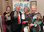 Goat Tales.....Michael Ring Minister of State at the Dept of Tourism & Sport pictured with Cherly Cobern-Browne, Helen Walker and Mary Harvey from Essence of Mulranny at the launch of Craftworks Mayo Winter Expo that took place in the Wyatt Hotel over the weekend..Pic Conor McKeown