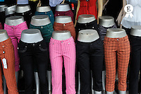 Pants for sale on mannequins at shop (Licence this image exclusively with Getty: http://www.gettyimages.com/detail/83154176 )