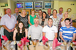 James Heffernan and Ricky Heffernan from Lixnaw celebrating their  Birthdays with family at the Kingdom Greyhound Stadium on Saturday. Pictured  Front row left to right, Aileen Heffernan, James Heffernan, Ricky Heffernan, Jamie Heffernan.  Back row left to right, Paddy Brennan, Mike O'Shea, Lily O'Shea, Mag Heffernan, Joe O'Sullivan, Moira O'Sullivan, Chris Brennan, Patricia Heffernan, John Heffernan, Jessica Ryle.