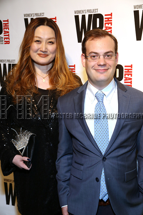 Aki Harimoto and Hal Berman attends the WP Theater's 40th Anniversary Gala -  Women of Achievement Awards at the Edison Hotel on April 15, 2019  in New York City.