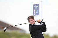 Tom Sloman (Taunton & Pickeridge) on the 5th tee during Round 1 of the The Amateur Championship 2019 at The Island Golf Club, Co. Dublin on Monday 17th June 2019.<br /> Picture:  Thos Caffrey / Golffile<br /> <br /> All photo usage must carry mandatory copyright credit (© Golffile | Thos Caffrey)