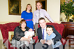 Baby Aoife Marie McMahon with her parents Norma & Gerard McMahon & brotherAaron, Coolanelig, Abbeyfeale and god parents Laura Deenihan & Paudie O'Neill who was christened i Duagh Church by Fr. Pat Moore on Saturday last and afterwards at the Listowel Arms Hotel.