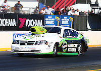 Jul. 25, 2014; Sonoma, CA, USA; NHRA pro stock driver Deric Kramer during qualifying for the Sonoma Nationals at Sonoma Raceway. Mandatory Credit: Mark J. Rebilas-