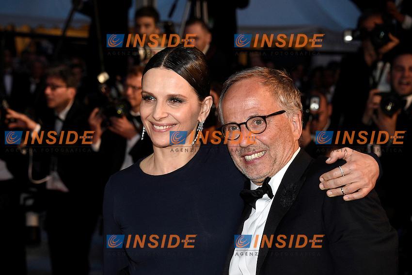 Juliette Binoche, Fabrice Luchini<br /> Festival di Cannes 2016 <br /> Foto Panoramic / Insidefoto