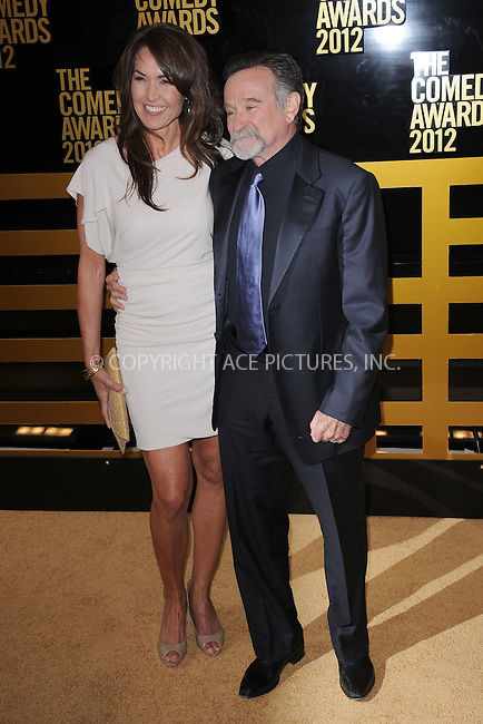 WWW.ACEPIXS.COM . . . . . .April 28, 2012...New York City....Susan Schneider and Robin Williams arriving to attend The Comedy Awards 2012 at Hammerstein Ballroom on April 28, 2012  in New York City ....Please byline: KRISTIN CALLAHAN - ACEPIXS.COM.. . . . . . ..Ace Pictures, Inc: ..tel: (212) 243 8787 or (646) 769 0430..e-mail: info@acepixs.com..web: http://www.acepixs.com .