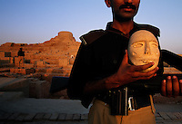 MohenjoDaro artifact of stone face.