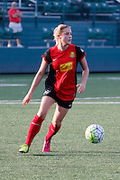 Rochester, NY - Friday May 27, 2016: Western New York Flash defender Abigail Dahlkemper (13). The Western New York Flash defeated the Boston Breakers 4-0 during a regular season National Women's Soccer League (NWSL) match at Rochester Rhinos Stadium.