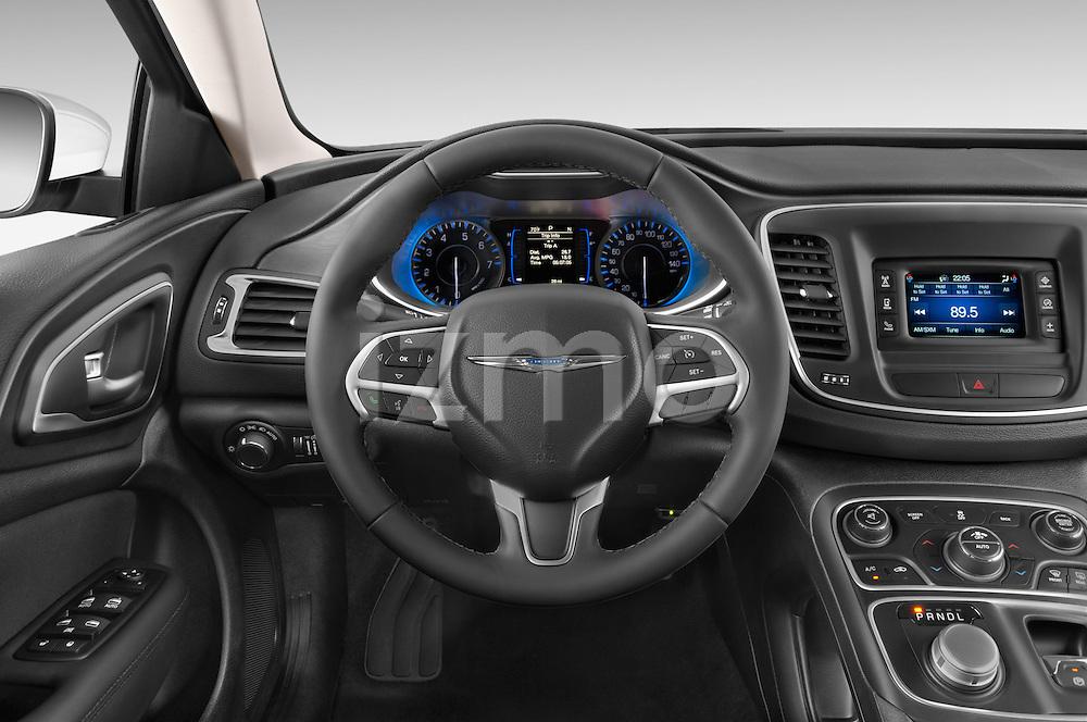 Car pictures of steering wheel view of a 2015 Chrysler 200 Limited 4 Door Sedan 2WD Steering Wheel