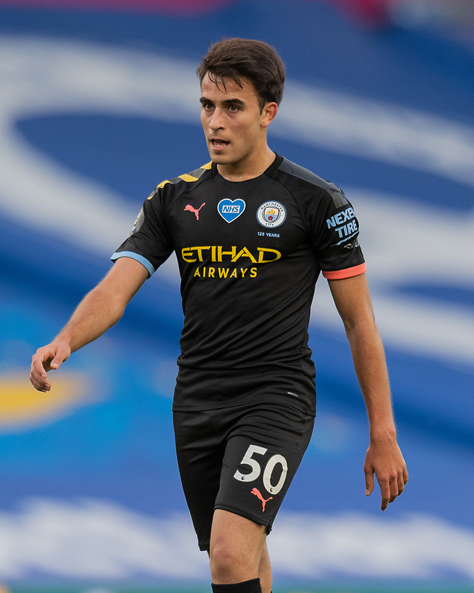 Manchester City's ERIC GARCIA<br /> <br /> Photographer David Horton/CameraSport<br /> <br /> The Premier League - Brighton & Hove Albion v Manchester City - Saturday 11th July 2020 - The Amex Stadium - Brighton<br /> <br /> World Copyright © 2020 CameraSport. All rights reserved. 43 Linden Ave. Countesthorpe. Leicester. England. LE8 5PG - Tel: +44 (0) 116 277 4147 - admin@camerasport.com - www.camerasport.com