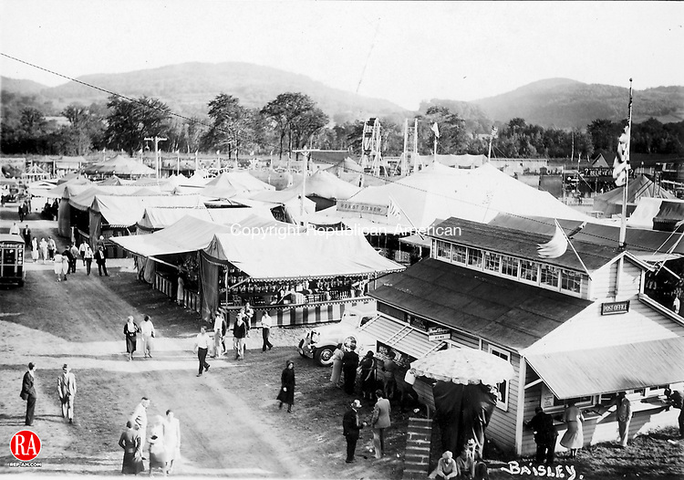 This undated photograph shows the Danbury Fairgrounds.  Republican-American Archives